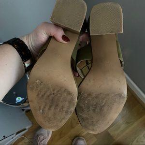 LOFT Shoes - WORN ONCE Loft strappy olive heels